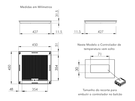 Desenho VT Glasart Tamanho 450x450 mm