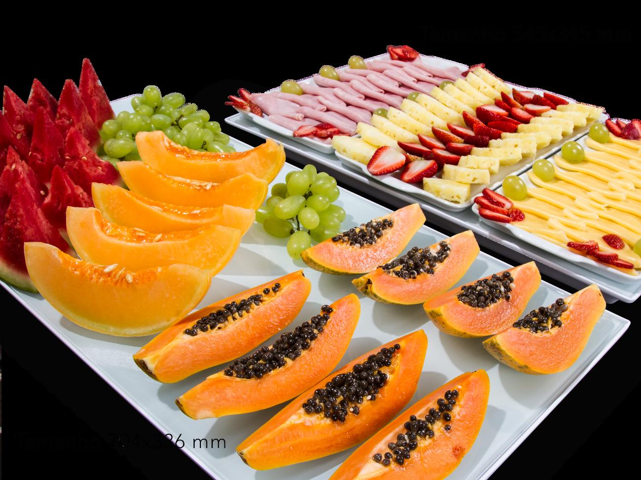Bandejas Gella Branca +Vidro + Frutas.pn