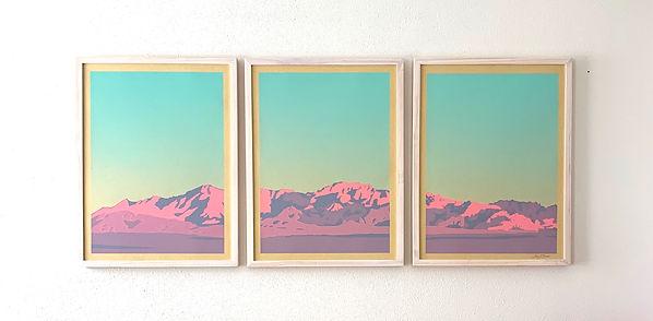 Mountain Triptych Screen Print