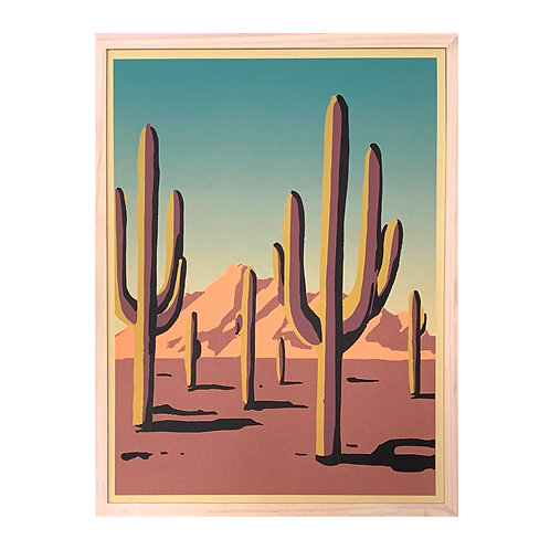 Sonoran Desert Screen Print,18x24""