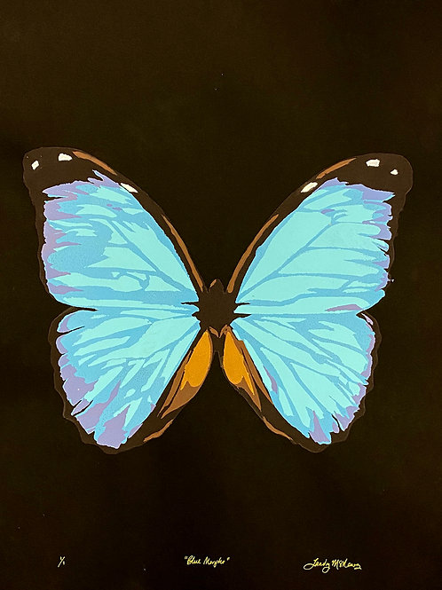 "Blue Morpho, 18x24"""
