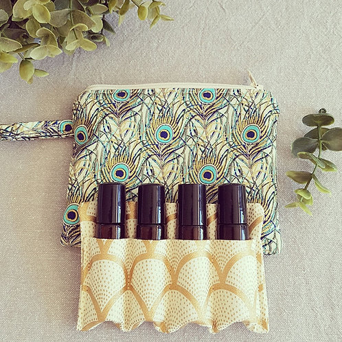 Roller Ball Essential Oil Pouches (Holds x4 10ml roller bottles)