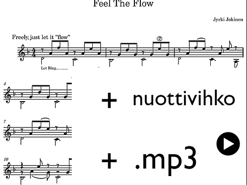 Sheet music (printed + downloadable) + mp3