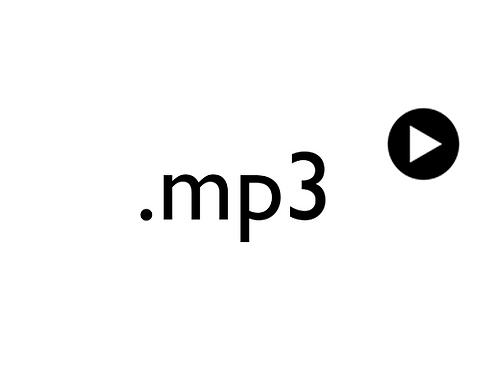 Pelkkä mp3-tiedosto