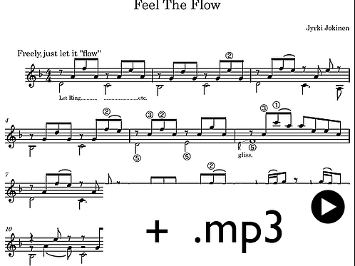Sheet music and mp3 (downloadable)