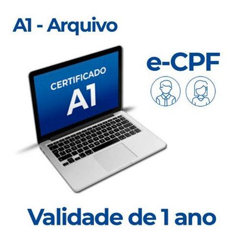 CERTIFICADO DIGITAL A1- PF