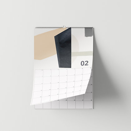 2021 Muurkalender A4 - ABSTRACT COLORS