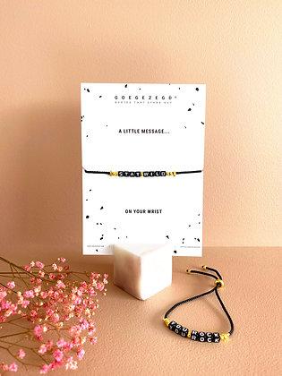 'stay wild' - Q-bracelet