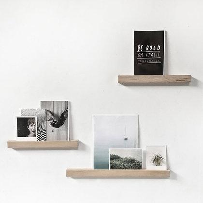 Houten magnetisch wandplankje/ voor foto's, kaarten