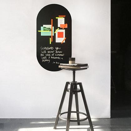 Krijtbord magneetsticker