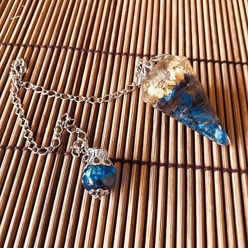 Orgonite - 4,5 cm - Pêndulo Sodalita e Folha de Ouro