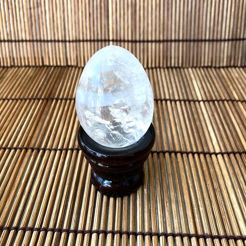 Yonni Egg M - 4,5 cm - Quartzo Branco