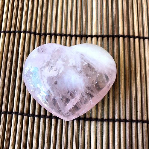 Coração de Quartzo Rosa - 5 cm - 40g
