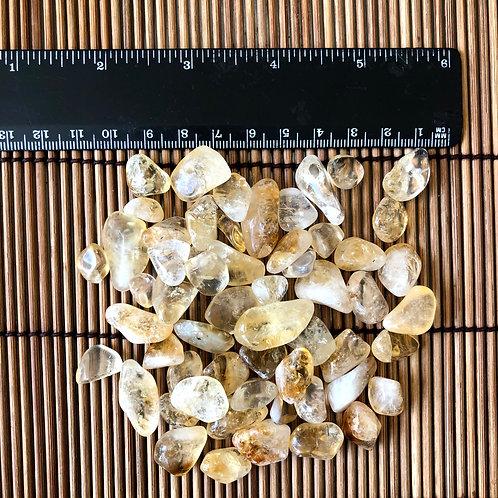 Citrino Rolado 100g - 0,5 a 1 cm -Iansã