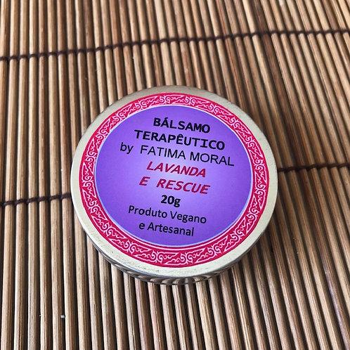 Bálsamo Terapêutico Lavanda e Rescue Perfume/Floral VEGANO