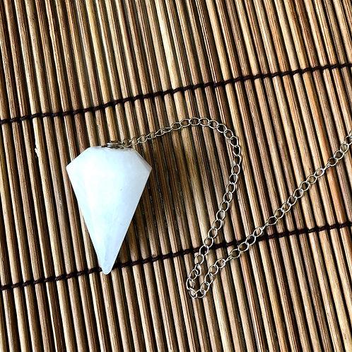 Pêndulo Quartzo Branco - Trono Masculino da Fé - Oxalá