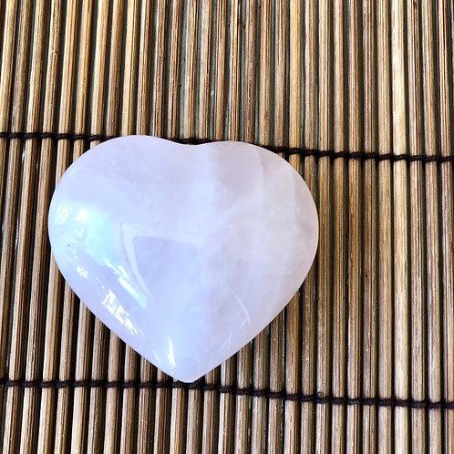 cópia de Coração de Quartzo Rosa - 5,5 cm - 60g