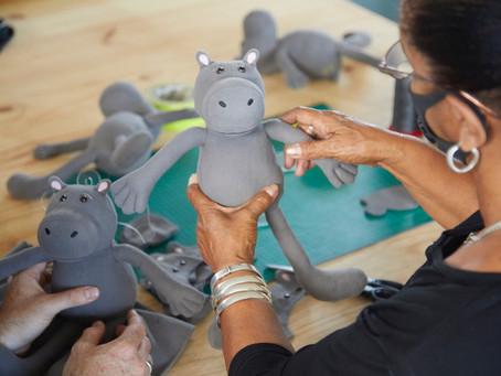 Hippo.co.za Toy Project brings COVID relief to local seamstress
