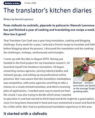 Translators Kitchen Diaries screengrab.J