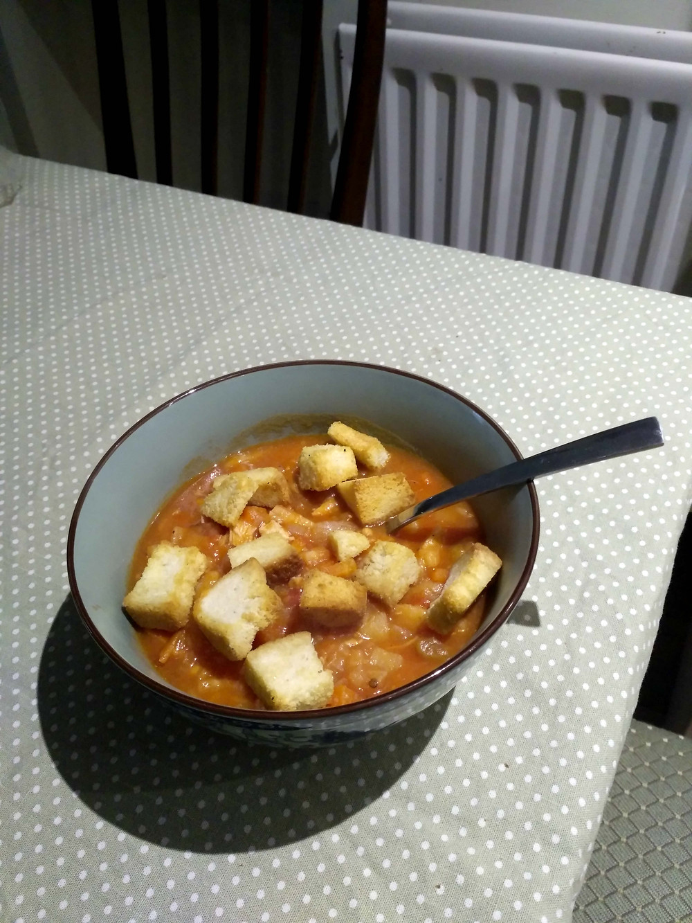 Picture of turkey and potato soup