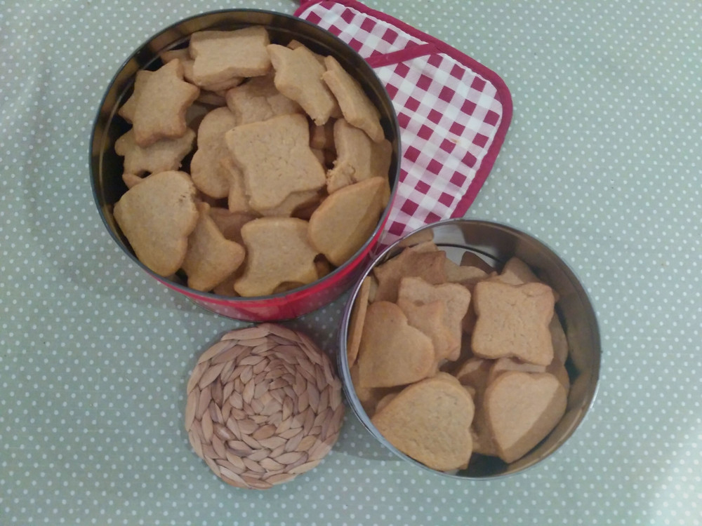 Picture of cooked speculaas biscuits