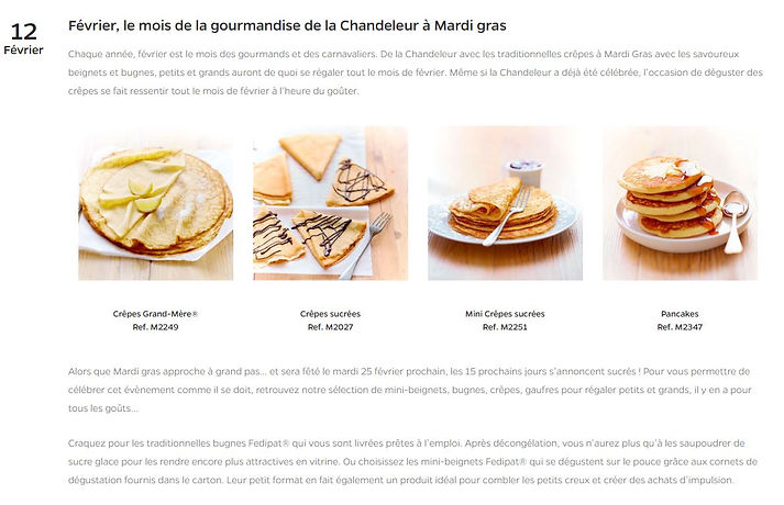 Screenshot of the French source text for my translationt of a topical article for Fedipat, from the food industry
