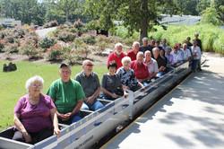 Volunteers on Train Car