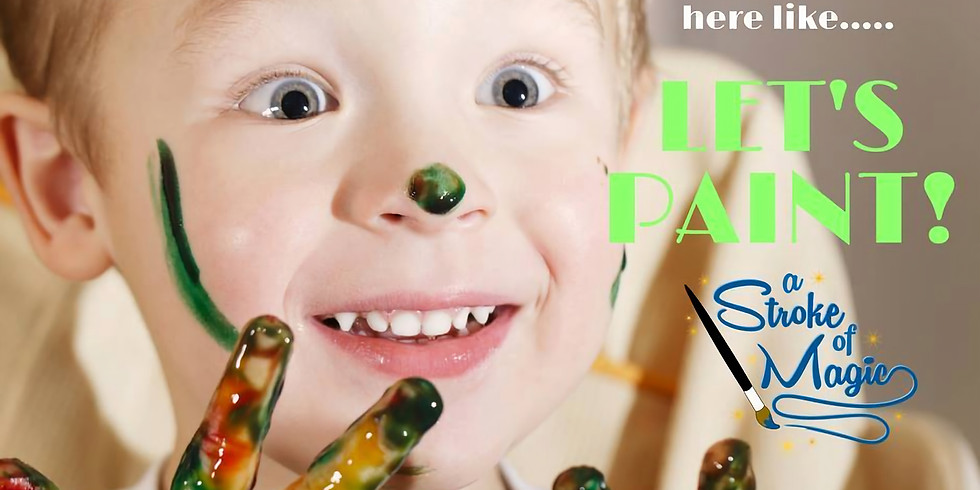 Toddler Painting, Sunday October 27 @ 1:00 PM