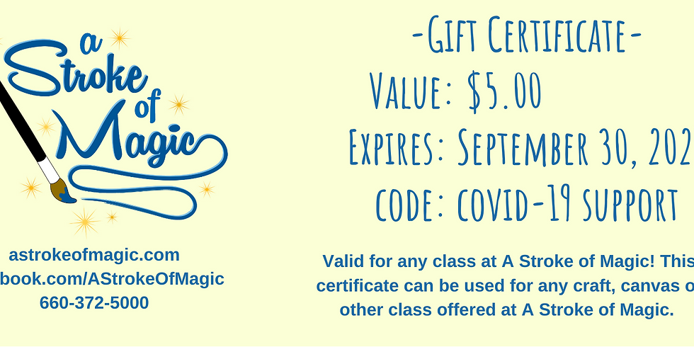$5 - Gift Certificate