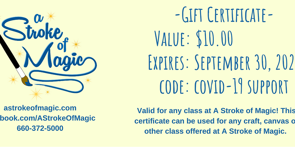$10 - Gift Certificate