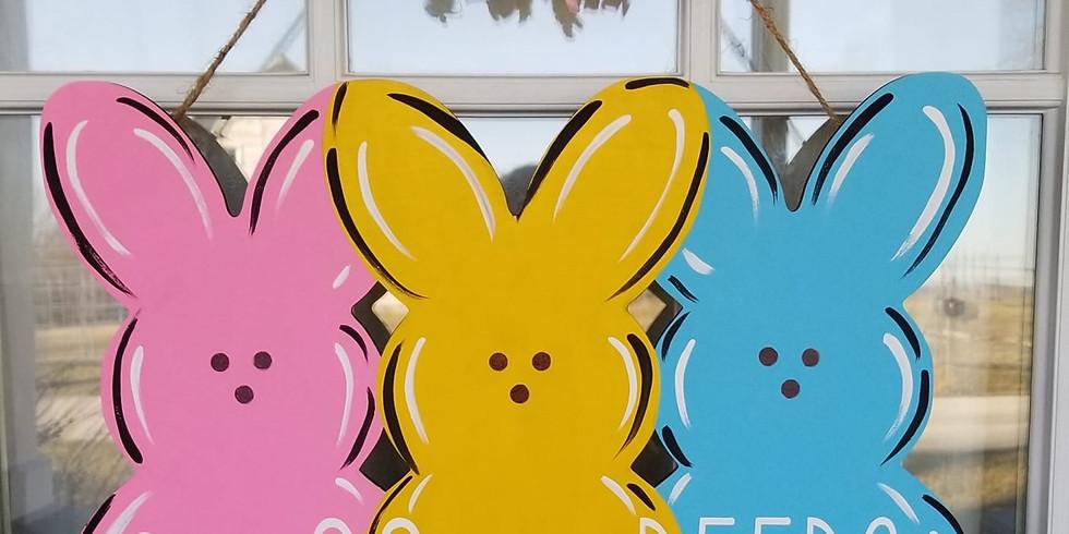 Easter Peeps Door Hanger