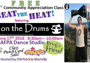 FREE Zumba event in Scottsdale, AZ with Patricia Martelly and Jay on the Drums!!!