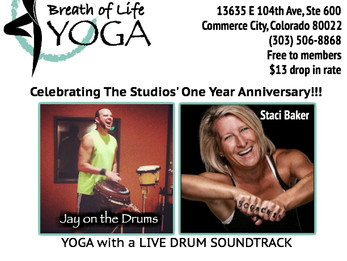 1 year anniversary @ Breath of Life Yoga in Commerce City, CO