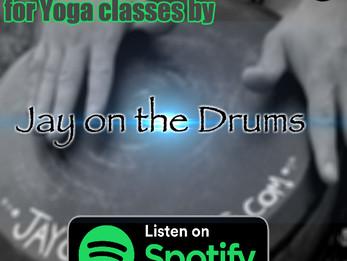 Yoga drumming on Spotify!!!