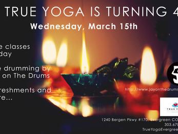 True Yoga 4 Year Anniversary!!! | Evergreen, CO