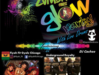 Zumba Glow Party with LIVE DRUMS benefit for Carlitos Romero | Naperville, IL