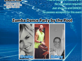 Zumba Pool Party with LIVE DRUMS @ Lakeshore Athletic Club | Broomfield, CO