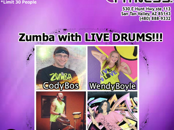 Zumba with LIVE DRUMS @ Anytime Fitness!!! | San Tan Valley, AZ