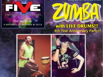 Zumba @ Five Nightclub | Madison, WI