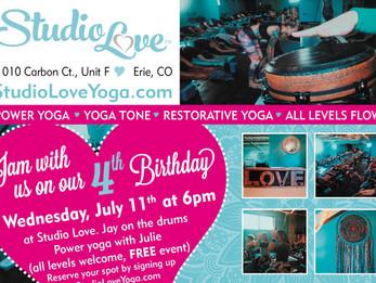 Happy 4 Years to Studio Love Yoga!!! | Erie, CO