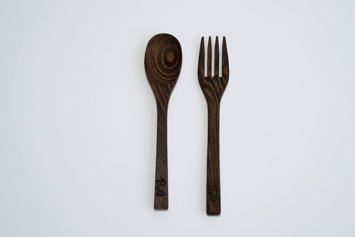 Coconut Fork and Spoon Set