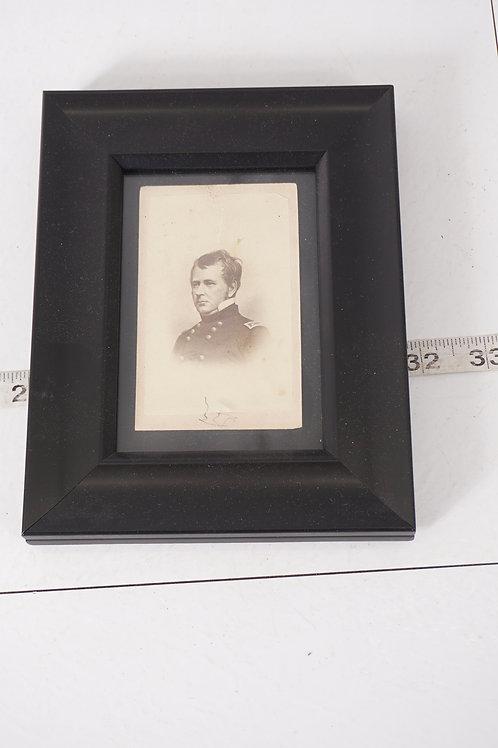 Framed Civil War Soldier Photograph