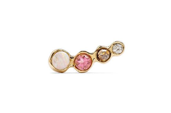 Prisma rosetta single earring