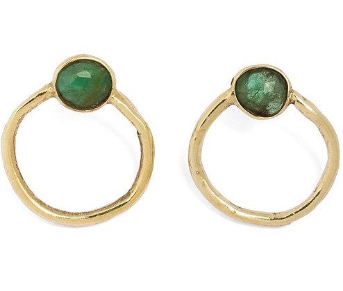 Congiunzioni yellow gold earrings