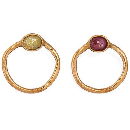 Congiunzioni pink gold earrings