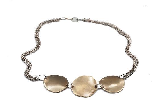 Progetto Lunare bronze and silver necklace