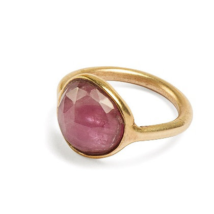 One of a kind rose gold ring with ruby