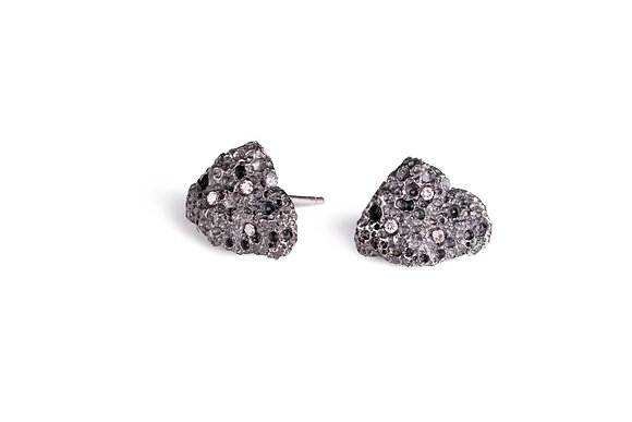 Volcano oxidized silver earrings
