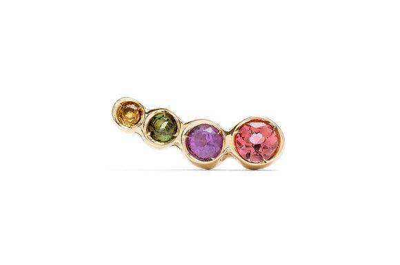 Prisma tourmaline single earring