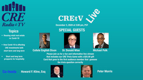 Repurposing Retail Real Estate During and After Covid-19 ... and other topics on CREtV Live 12/3/20